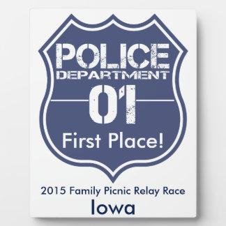Iowa Police Department Shield 01 Plaque