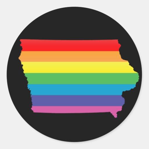 iowa pride. round stickers
