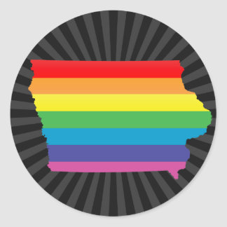 iowa pride. classic round sticker