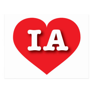 Iowa Red Heart - Big Love Postcard