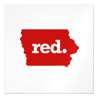 IOWA RED STATE MAGNETIC CARD