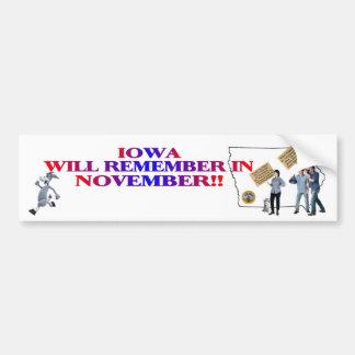 Iowa - Return Congress To The People!! Bumper Sticker