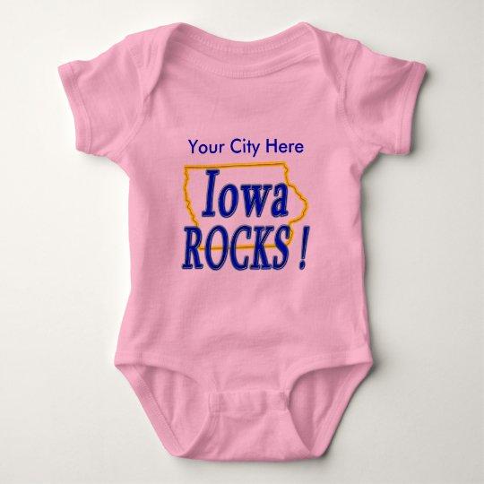 Iowa Rocks ! Baby Bodysuit