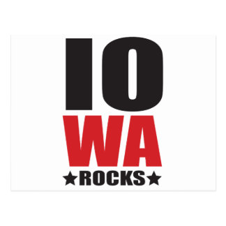 Iowa Rocks! State Spirit Gifts and Apparel Postcard