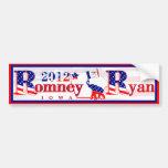 Iowa Romney y pegatina para el parachoques 2012 de Pegatina De Parachoque