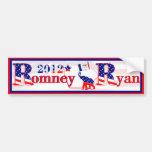 Iowa Romney y pegatina para el parachoques 2012 de Etiqueta De Parachoque