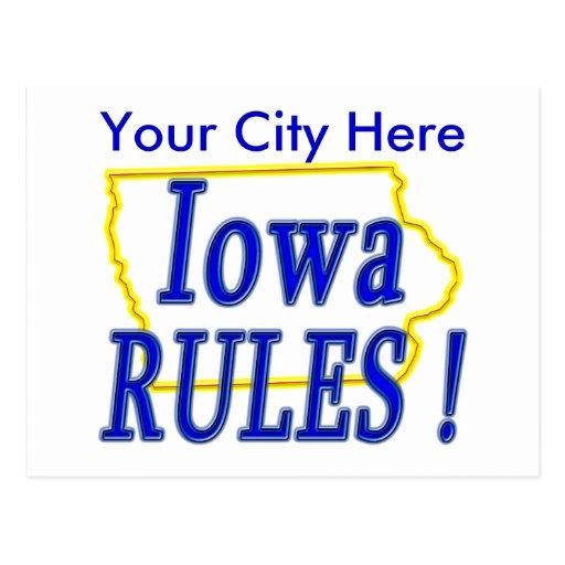 Iowa Rules ! Postcard