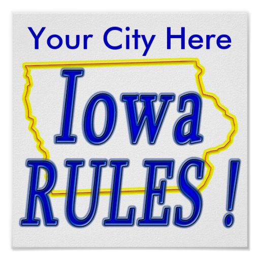 Iowa Rules ! Poster