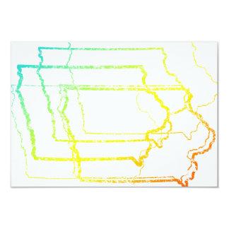 """Iowa se descolora falta de definición invitación 3.5"""" x 5"""""""