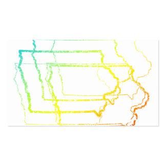 Iowa se descolora falta de definición tarjetas de visita