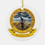 Iowa Seal Christmas Tree Ornament