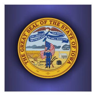 Iowa Seal Print