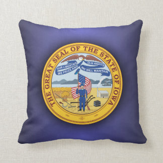 Iowa Seal Throw Pillow