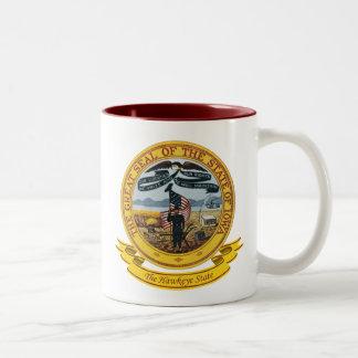 Iowa Seal Two-Tone Coffee Mug