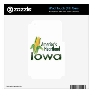 IOWA iPod TOUCH 4G DECAL