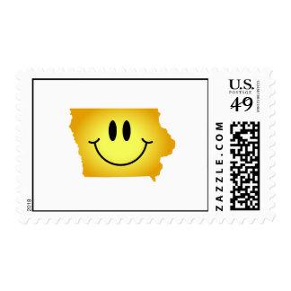 Iowa Smiley Face Postage