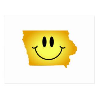 Iowa Smiley Face Postcard