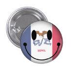 Iowa Smiley Pin