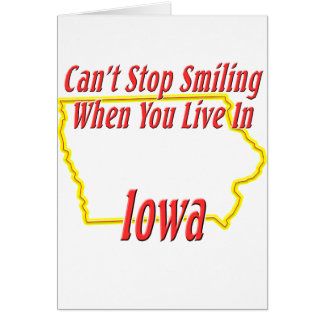 Iowa - Smiling Greeting Card