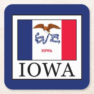 Iowa Square Paper Coaster