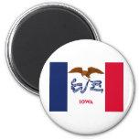 Iowa State Flag 2 Inch Round Magnet