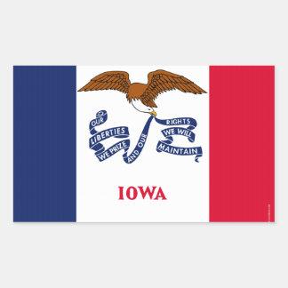 Iowa State Flag 2.png Rectangular Sticker