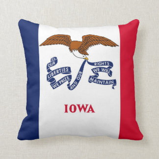 Iowa State Flag American MoJo Pillow