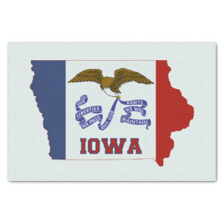 "Iowa State Flag and Map 10"" X 15"" Tissue Paper"