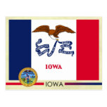 Iowa State Flag and Seal Post Cards