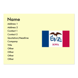 Iowa State Flag Large Business Cards (Pack Of 100)