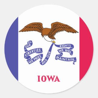 Iowa State Flag Classic Round Sticker