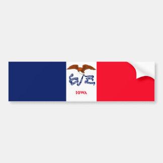 Iowa State Flag Design Bumper Sticker