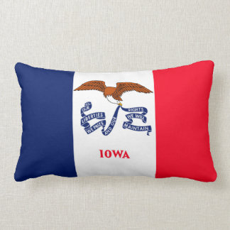 Iowa State Flag Design Lumbar Pillow