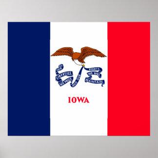 Iowa State Flag Design Poster