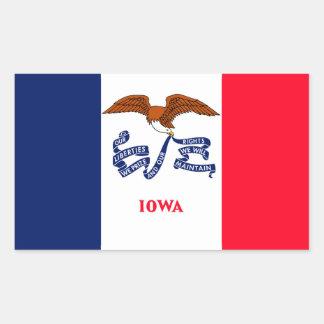 Iowa State Flag Design Rectangular Sticker