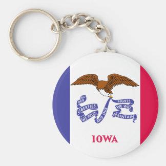 Iowa State Flag Keychain