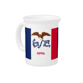 Iowa State Flag Pitcher
