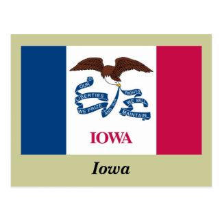 Iowa State Flag Postcard