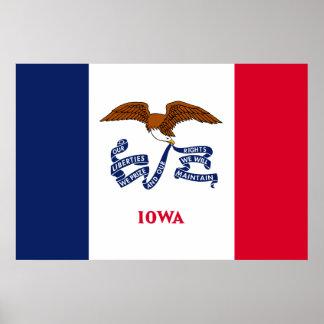 Iowa State Flag Print