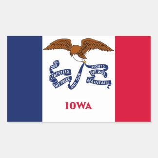 Iowa State flag Rectangular Sticker
