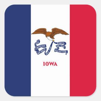 Iowa State Flag Square Sticker