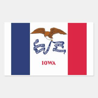 Iowa State Flag Sticker - 4 per sheet