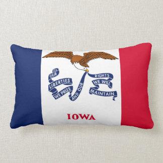 iowa state flag united america republic symbol lumbar pillow