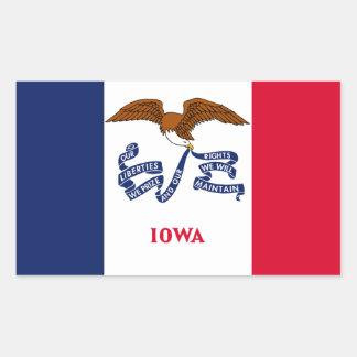 Iowa State Flag, United States Rectangular Sticker