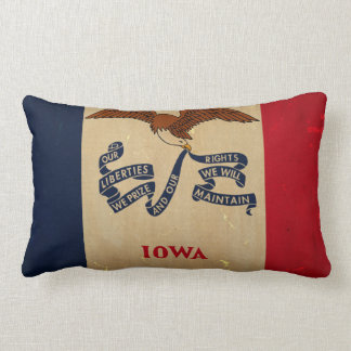 Iowa State Flag VINTAGE.png Lumbar Pillow