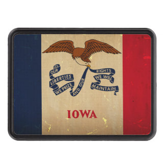 Iowa State Flag VINTAGE.png Tow Hitch Cover