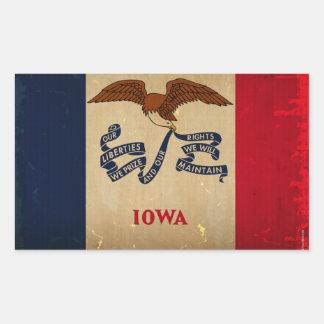 Iowa State Flag VINTAGE.png Rectangular Sticker