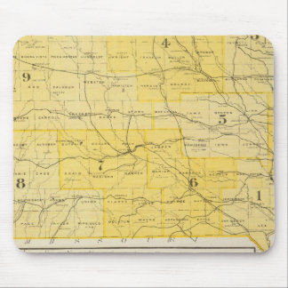 Iowa State Maps Mouse Pad