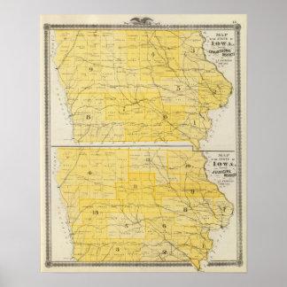 Iowa State Maps Posters