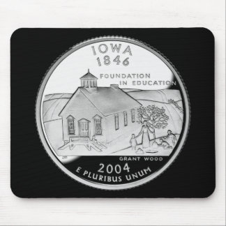 Iowa State Quarter Mouse Pad